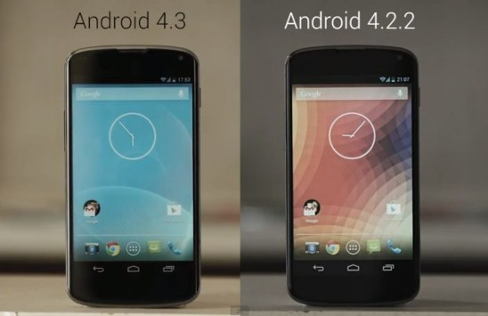 Nexus 4: Android 4.3 vs Android 4.2.2