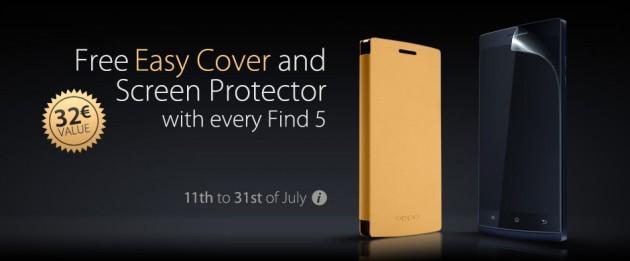 Oppo: Easy Cover e pellicola per il display in omaggio con l'acquisto di un Find 5