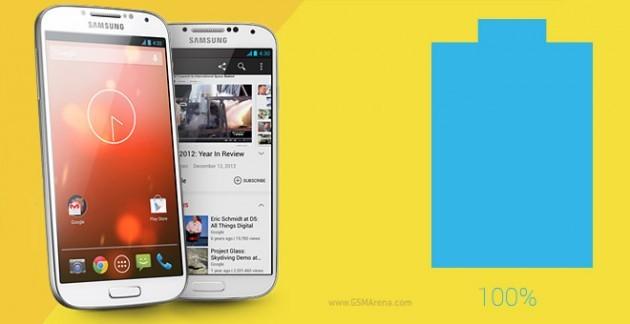 Samsung Galaxy S4 'Google Edition': ecco il test sulla batteria
