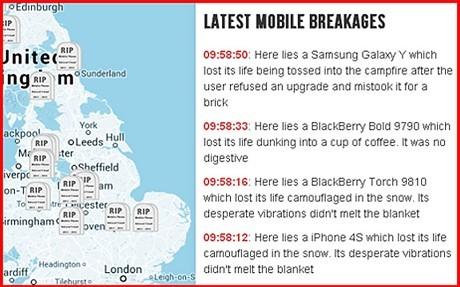 Mobile Graveyard, il portale che racconta le storie dei cellulari passati a miglior vita