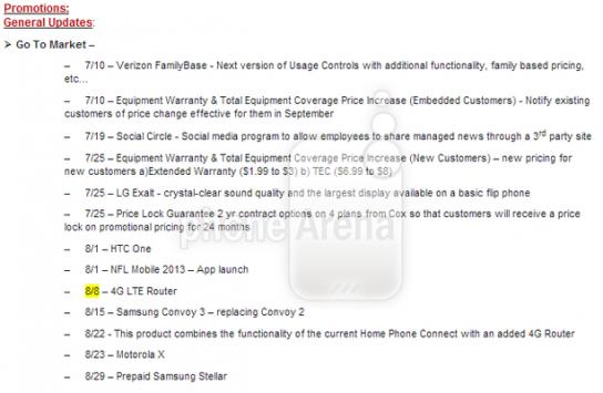 Moto X: la road map di Verizon rivela la vendita a partire dal 23 Agosto
