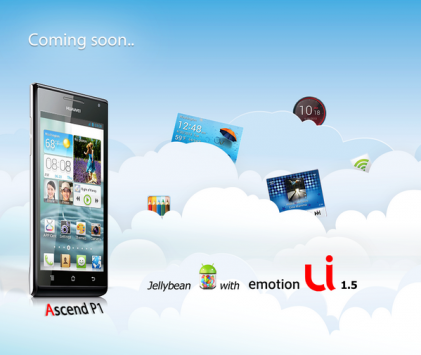 Huawei Ascend P1: in arrivo l'update a Jelly Bean e Emotion UI 1.5