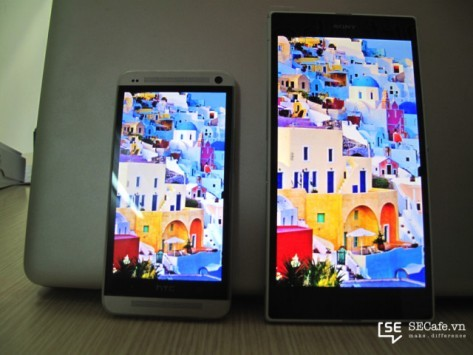 Sony Xperia Z Ultra vs HTC One: display a confronto