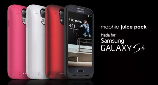 Samsung Galaxy S4: disponibile la Mophie Juice Pack per raddoppiare la batteria