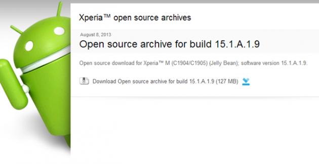 Sony Xperia M: disponibili i file Open Source