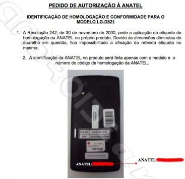 [ESCLUSIVA ANDROIDIANI] LG D821 è ufficialmente il Nexus 5 per il Brasile, ecco i documenti