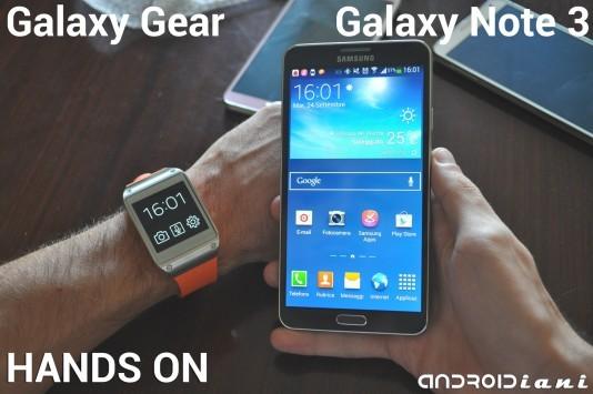 Samsung Galaxy Note 3 e Galaxy Gear: hands-on di Androidiani.com