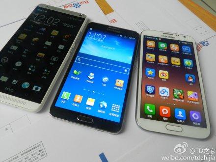 HTC One Max: ecco nuove foto anche in compagnia di Galaxy Note III e Note II