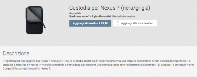 Nexus 7 2013: disponibile la prima custodia ufficiale sul Google Play Device