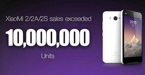 Xiaomi Mi2, 2A e 2S superano i 10 milioni d'unità vendute in meno di un anno