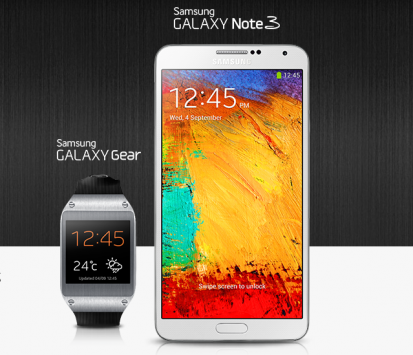 Samsung Galaxy Note 3 e Galaxy Gear, ecco l'hands-on ufficiale