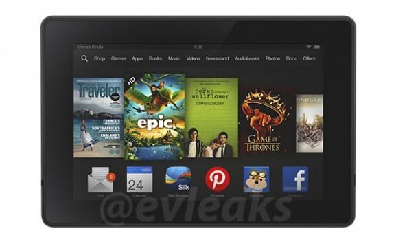 Amazon: ecco il render del nuovo tablet Kindle