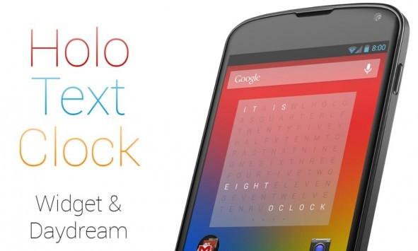 Holo Text Clock: ecco un nuovo orologio personalizzabile in stile Holo