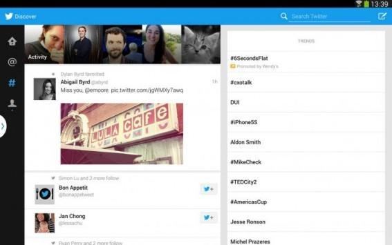 Twitter svela ufficialmente l'interfaccia tablet della propria applicazione