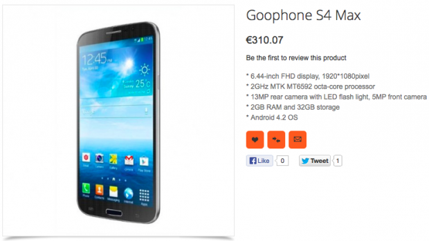 GooPhone S4 Max: ecco un nuovo device con SoC MediaTek octa-core