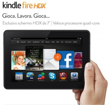 Amazon Kindle Fire HDX 7 e 8.9 e Kindle Fire HD ufficialmente annunciati per l'Italia