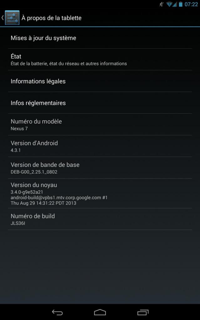 Nexus 7 2013 LTE: disponibile un nuovo aggiornamento via ...