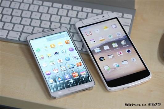Oppo N1 fotografato in compagnia del Samsung Galaxy Note III