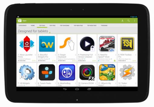 Google Play Store: novità per i tablet in arrivo il prossimo 21 Novembre