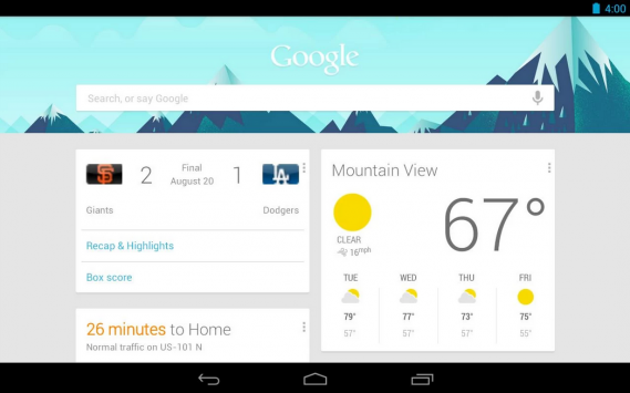 Google Now: Google Experience Launcher per tutti i dispositivi con Android 4.1 e superiore