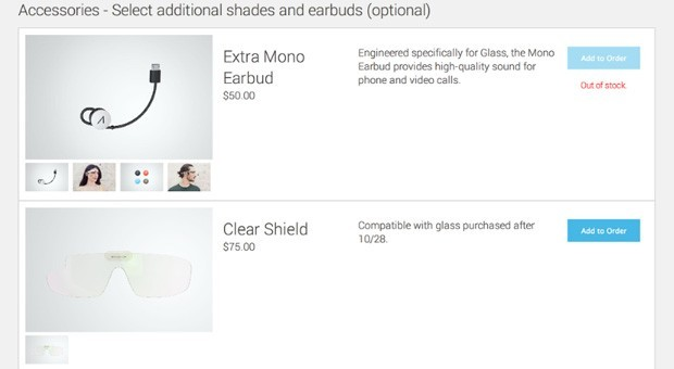Google vende direttamente gli accessori per i Glass