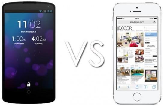 Nexus 5 VS iPhone 5S: un video mostra un confronto tra i due device