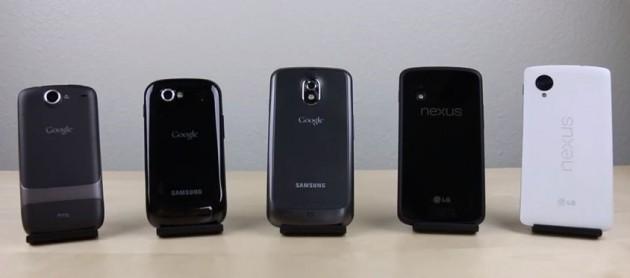 Smartphone Nexus: confronto tra i 5 Google phone in un video