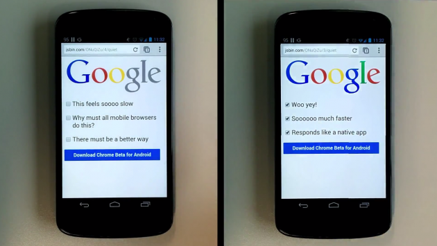 Chrome Beta per Android: rimosso il ritardo di 300ms al tocco [VIDEO]