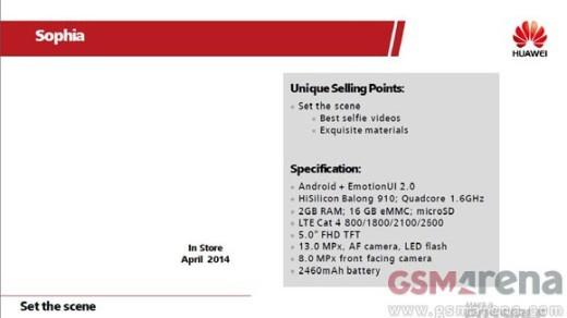 Huawei Ascend P7: ecco le presunte specifiche tecniche