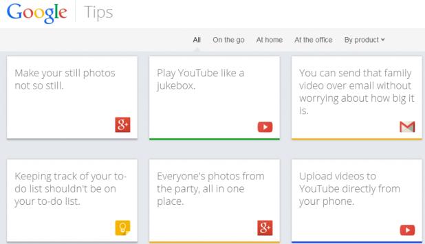 Google lancia Google Tips, un sito per aiutare gli utenti ad utilizzare i suoi servizi