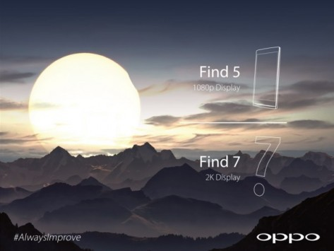 Oppo Find 7 avrà un display 2K