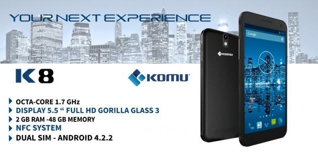 Komu K8 riceve Android 4.4.2: KitKat inizia ad arrivare sui chipset MediaTek