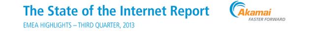 Akamai pubblica il rapporto sullo stato di internet del terzo trimestre del 2013
