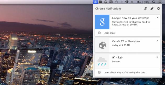 Google Now arriva su Mac e PC grazie all'ultimo aggiornamento di Google Chrome Canary