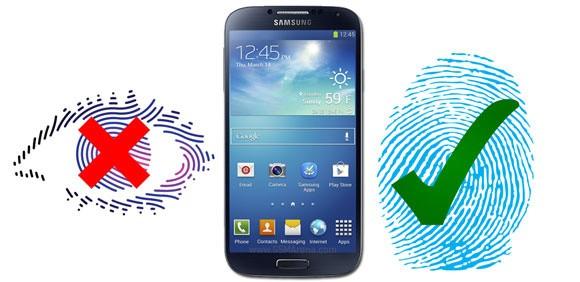 Il Samsung Galaxy S5 avrà lo scanner di impronte digitali e non dell'iride?