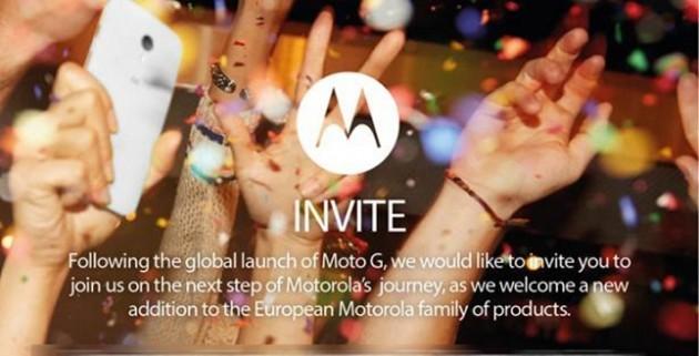 Motorola: evento dedicato all'Europa il 14 Gennaio