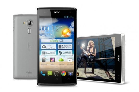 Acer: annunciato il nuovo Liquid Z5, presentazione ufficiale al CES 2014
