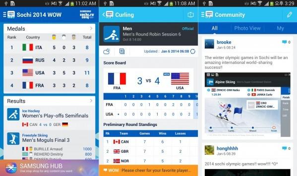 Samsung rilascia l'app ufficiale delle Olimpiadi invernali di Sochi 2014