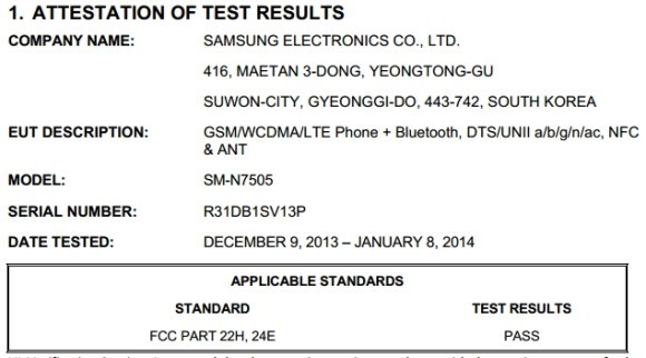 test fcc note 3 neo