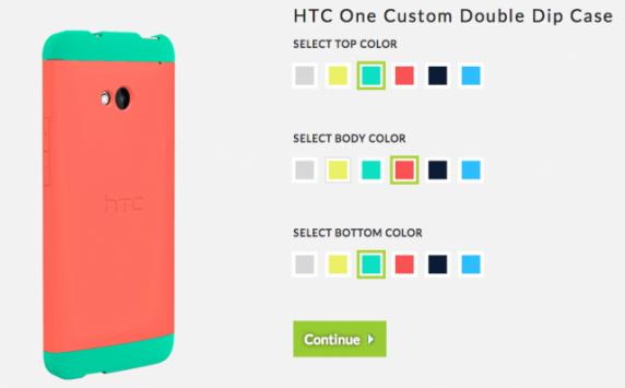 HTC ONE: la custodia Double Dip potrà essere personalizzata