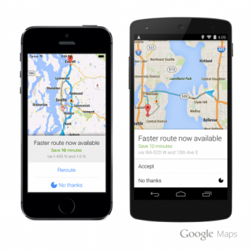 Google Maps adesso ricalcola automaticamente il percorso migliore