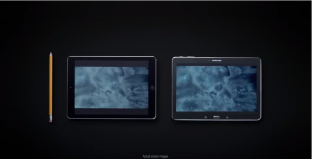 Samsung, nuovi spot comparativi con iPhone e iPad