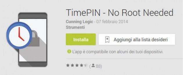 TimePIN: un codice di sblocco diverso ogni minuto sul vostro smartphone android