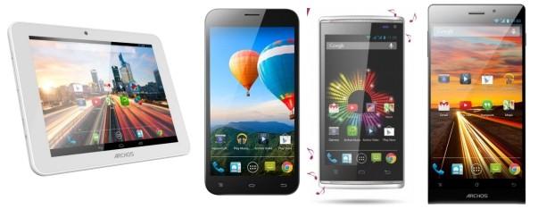Archos presenta in anteprima i prodotti del MWC 2014: due smartphone, un tablet ed un phablet
