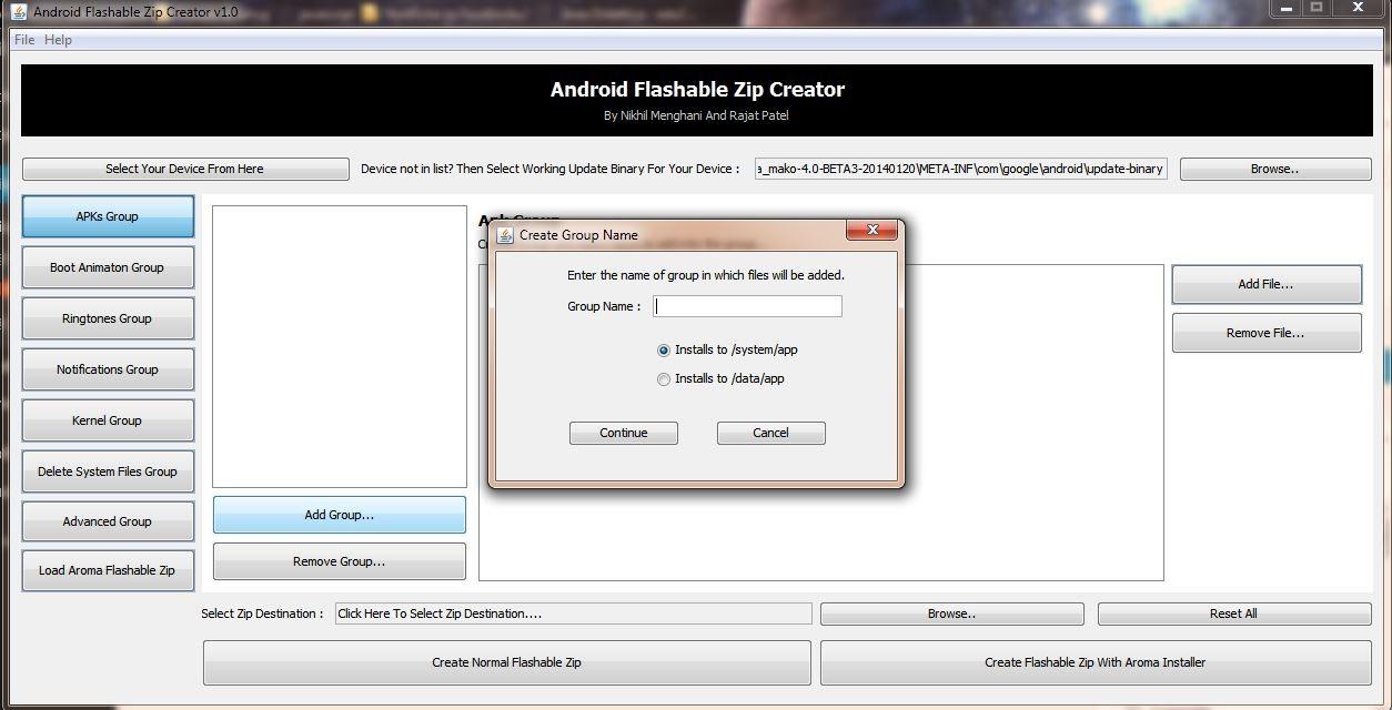 Guida] Creare zip flashabili da recovery con Android Flashable Zip