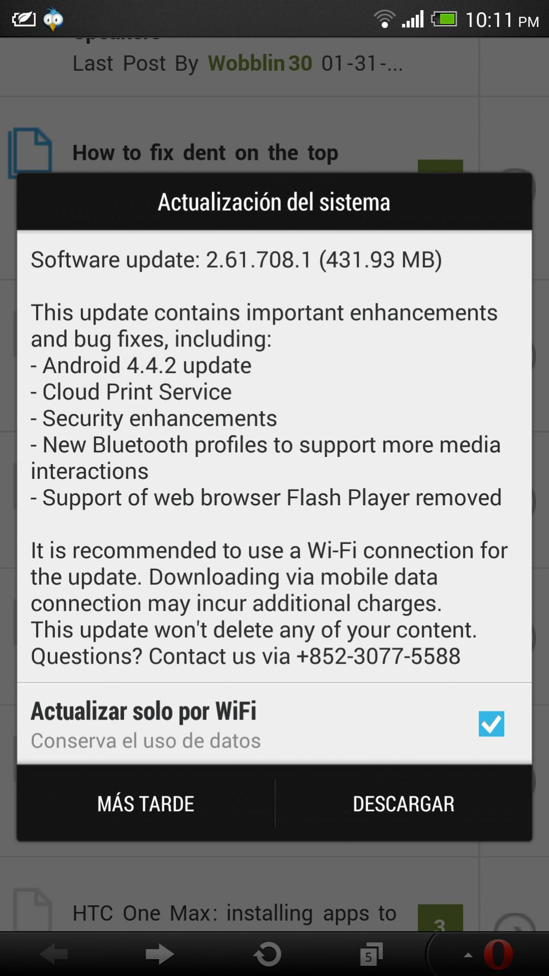 htc one max android 4.4.2 kitkat