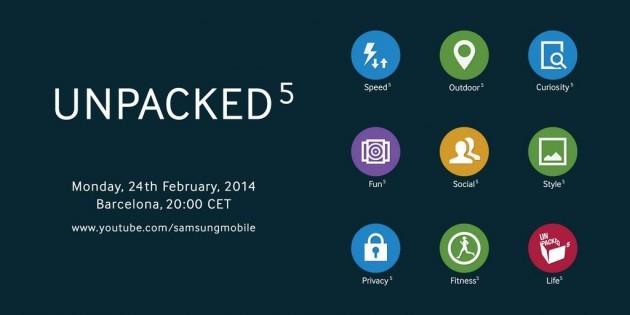 Nuovo teaser Unpacked 5 di Samsung: suggerisce nuova interfaccia per il Galaxy S5