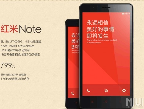 Xiaomi introduce il Redmi Note
