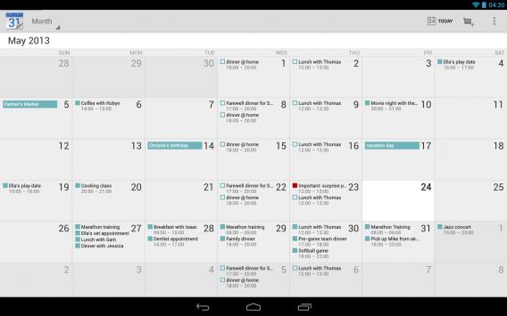 Today Calendar Beta: il calendario stock di Android potenziato