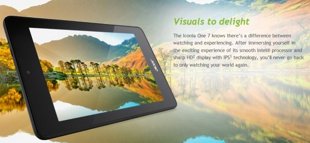 Acer aggiorna l'hardware dell'Iconia One 7